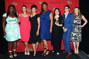 Orange Is the New Black - Members of the cast and crew with their Peabody Award, May 2014