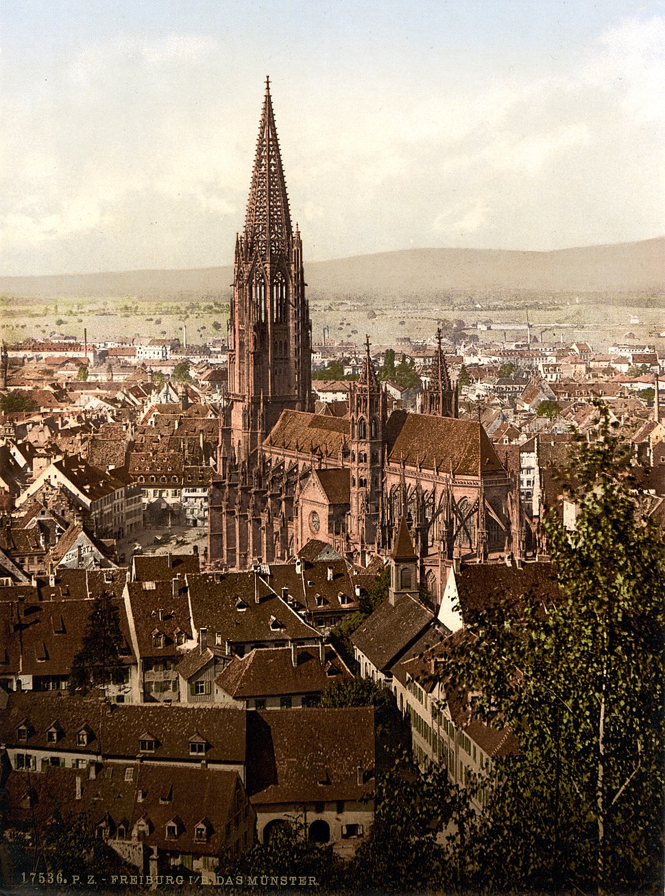 The cathedral, Freiburg, Baden, Germany, ca. 1895