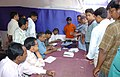 The distribution of the election materials to the Polling officials, at a Distribution Centre for the Second phase of the General Election-2009, at Ranchi, Jharkhand on April 22, 2009.jpg