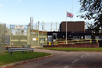HM Prison Huntercombe - Image: The entrance to HMP Huntercombe (geograph 4182146)
