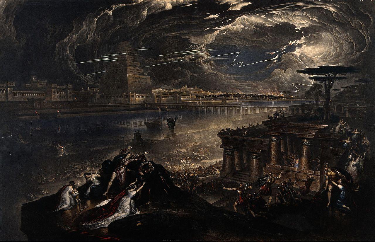 سقوط بابل توسط جان مارتین، 1831.
