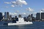 The future USS Michael Monsoor arrives in San Diego (31307594187).jpg