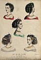 The heads and shoulders of five women with ringletted hair d Wellcome V0019884ER.jpg