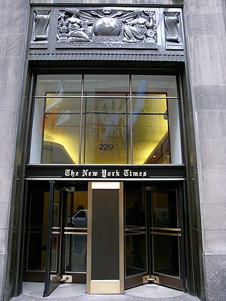 Media of the United States - The new york times building