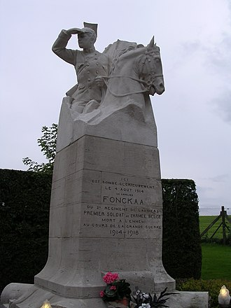 German invasion of Belgium - Image: Thimister Monument Fonck 5