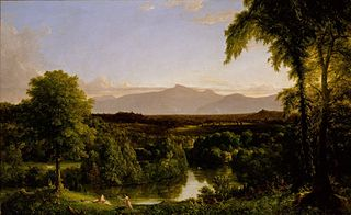 View on the Catskill Early Autumn