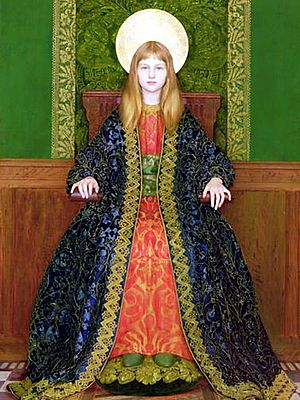 Thomas Cooper Gotch - The Child Enthroned, 1894