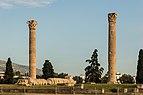 Three columns, Temple of Zeus Olympian, Athens, Greece.jpg