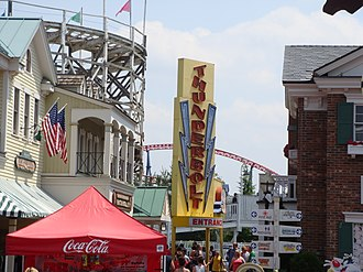 Six Flags New England - Image: Thunderbolt, Six Flags New England Entrance