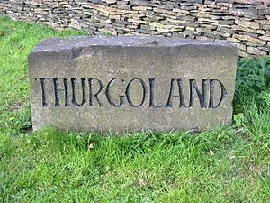 Thurgoland - Image: Thurgoland boundary stone 2016