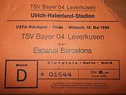 Ticket Leverkusen−RCD Espanyol 1988