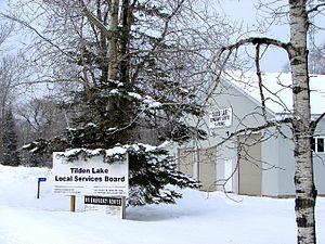 Tilden Lake - Tilden Lake community and fire hall