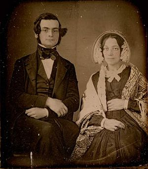 Samuel Leonard Tilley - Sir Samuel Leonard Tilley and his first wife Julia Ann Hanford, circa 1843