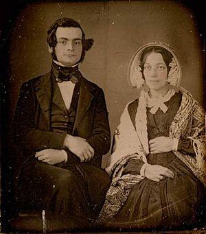 Samuel Leonard Tilley - Sir Samuel Leonard Tilley and his first wife Julia Ann Hanford, circa 1843
