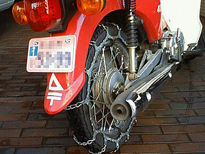 Snow chains - chain for motorcycle