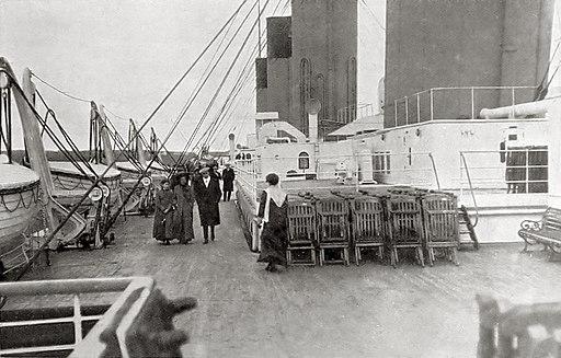 Titanic portside second class boat deck