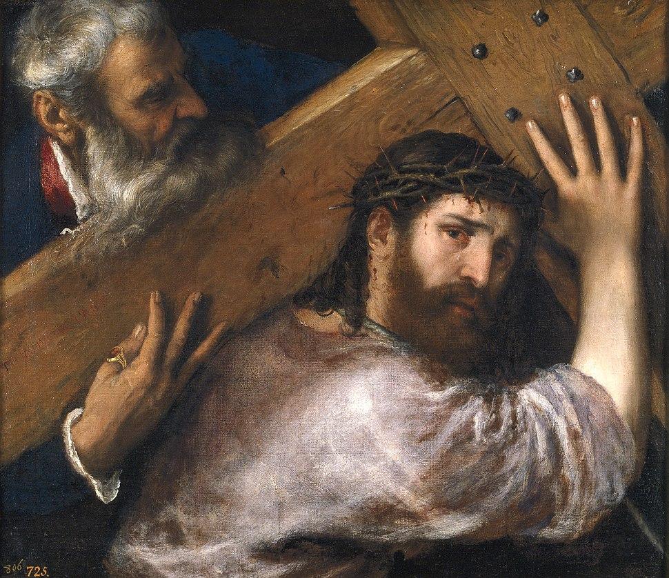 Titian, Christ Carrying the Cross. Oil on canvas, 67 x 77 cm, c. 1565. Madrid, Museo Nacional del Prado
