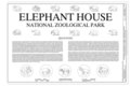 Title sheet, augmented with drawings of the metal sculptures by Charles R. Knight - National Zoological Park, Elephant House, 3001 Connecticut Avenue NW, Washington, HABS dc-777-C (sheet 1 of 11).png