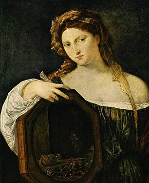 La femme au miroir titien wikip dia for Miroir noir wiki