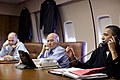 Tom Donilon, Bill Daley and Barack Obama on telephone, 2011.jpg
