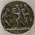 Tomaso di calisto (maestro delle eroiche virtù), giovane avvicinato da portatori di frutta, 14780-1480 circa.JPG