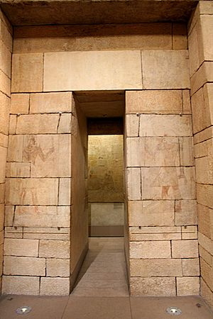 Tomb of Perneb - Entrance leading to the main offering chapel in the Tomb of Perneb, The Met, New York