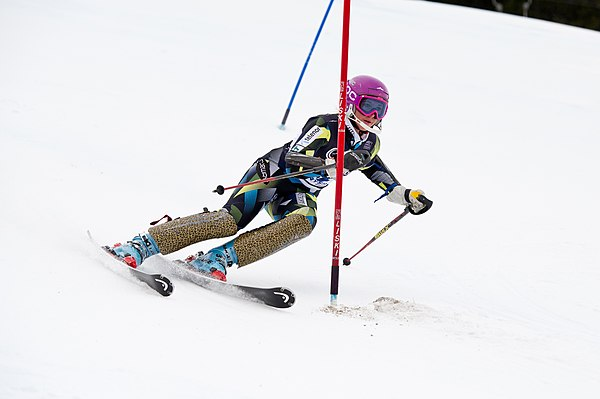 Tonje Sekse competes in the slalom Tonje Sekse Norway 2011 Slalom.jpg