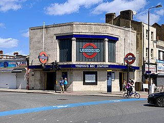 Tooting Bec tube station London Underground station