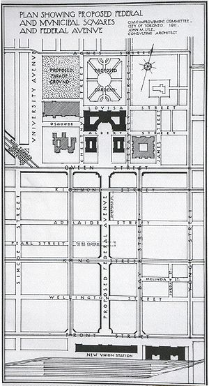 Discovery District - 1911 Plan for a Federal Avenue