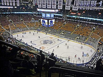 Scotiabank Arena - Scotiabank Arena is a multi-purpose arena that is able to host a number of sporting events, including basketball, box lacrosse, ice hockey.