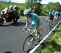 Tour De France stage 2 race leader on Mortimer Road - geograph.org.uk - 4060132.jpg