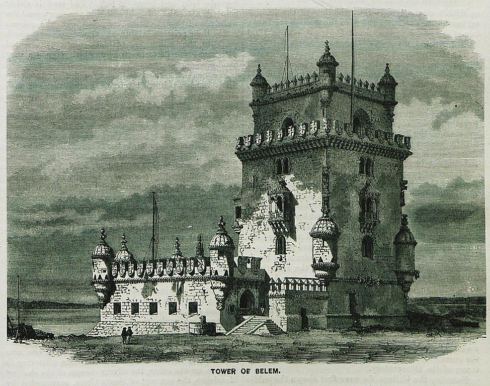 Image ancienne de la Tour de Belem à Lisbonne.
