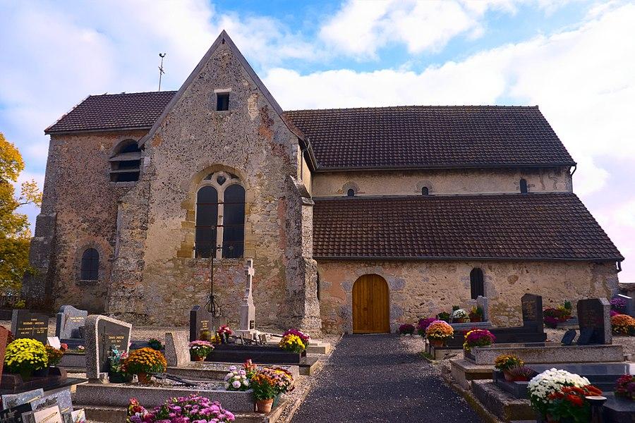 L'église de Trécon (Marne, France)