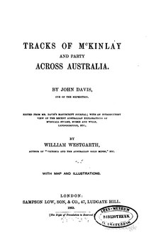 Tracks of McKinlay and party across Australia.djvu