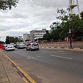 Traffic near Cathedral Church in Main Mall, Gaborone.jpg