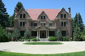 John B. Kendrick - Trail End, completed in 1913, is located in Sheridan, Wyoming. Known locally as the Kendrick Mansion, it was the home of John B. Kendrick and his family. It is now a house museum operated by the Wyoming Department of State Parks and Cultural Resources