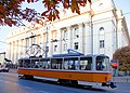 Tram in Sofia near Palace of Justice 2012 PD 060.jpg
