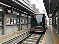 Tramcar for Hamadera-Ekimae Station at Tennoji-Ekimae Station.jpg