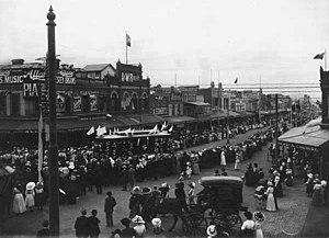 Trams in Geelong - Opening of the Geelong Tramway in 1912