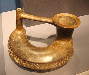 Tres Zapotes - A vessel from Tres Zapotes' Epi-Olmec period, 300 BCE to 250 CE.