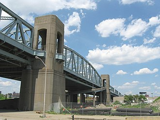 Triborough Bridge - Bronx Kill crossing in 2008