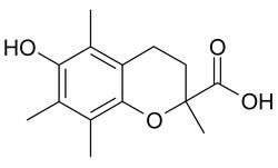 Struktur von 6-Hydroxy-2,5,7,8-tetramethylchroman-2-carbonsäure