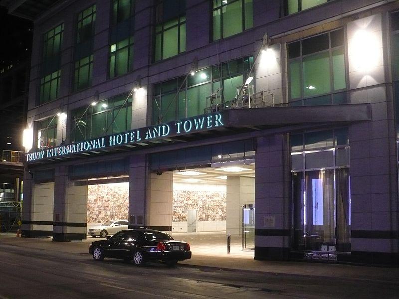 Trump Toronto entrance at night.JPG