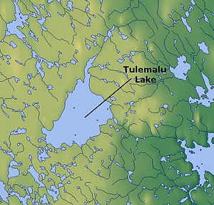 Tulemalu Lake - Map