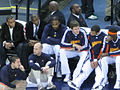 Turiaf and Warriors on bench 2008-12-26.jpg