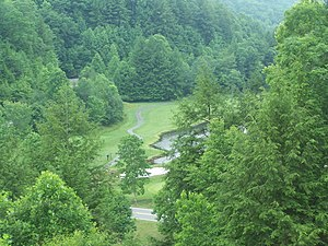 Twin Falls Resort State Park - Golf course adjacent to the lodge.