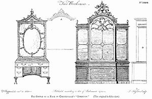 "Thomas Chippendale - ""Two Bookcases"", from the Director, 1754"