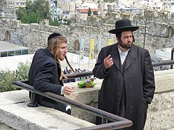 Two orthodox Jews (Jerusalem, 2013) (8683269416).jpg