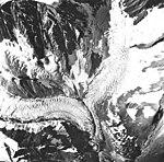 Tyeen Glacier, hanging glacier junction, August 22, 1965 (GLACIERS 5910).jpg