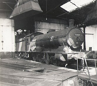 NER Class T2 - NER T2 (LNER Q6) in one of the roundhouses at Tyne Dock, South Shields